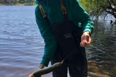 Stuart Fitzsimons with a massive black loch fresh water eel